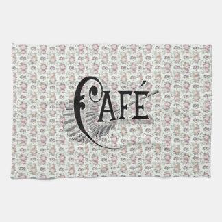 Pretty Shabbychic French Floral Café Design Tea Towel