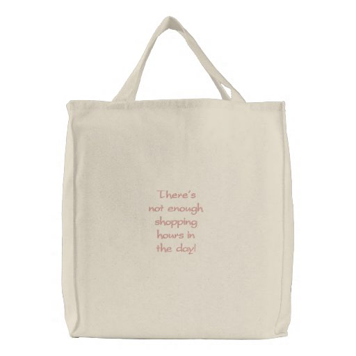 Pretty Shopping Tote Embroidered Bag