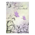 Pretty Silhouette Butterfly Baby Shower Invite