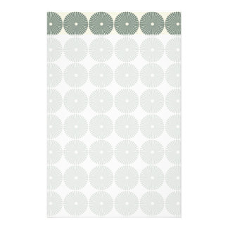 Pretty Silver Circles Pattern Disks Buttons Custom Stationery