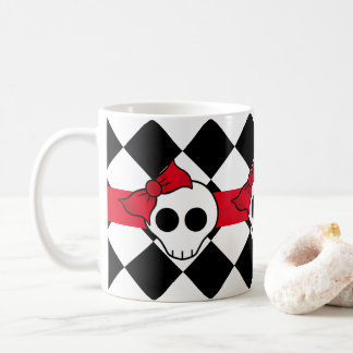 Pretty skull design coffee mug