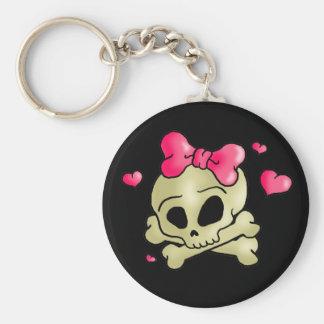 Pretty skull key ring