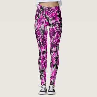 Pretty Skulls Camo Leggings