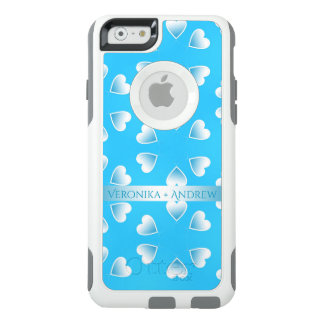 Pretty small blue hearts. Add your own text. OtterBox iPhone 6/6s Case