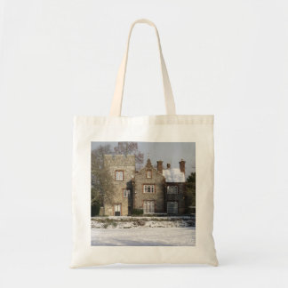 Pretty Snow Scene With Old Buildings Budget Tote Bag