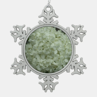 Pretty Snowball Flower for the Tree Snowflake Pewter Christmas Ornament
