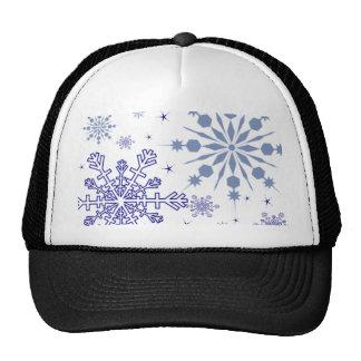 Pretty Snowflakes Mesh Hats