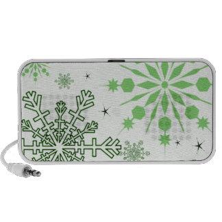 Pretty Snowflakes Travelling Speaker