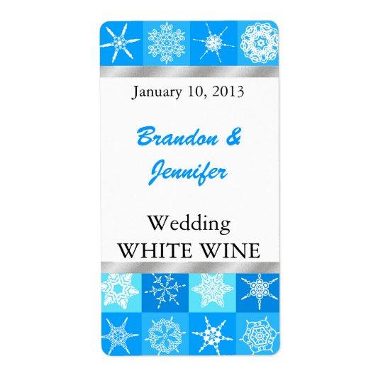 Pretty Snowflakes Wedding Mini Wine Labels