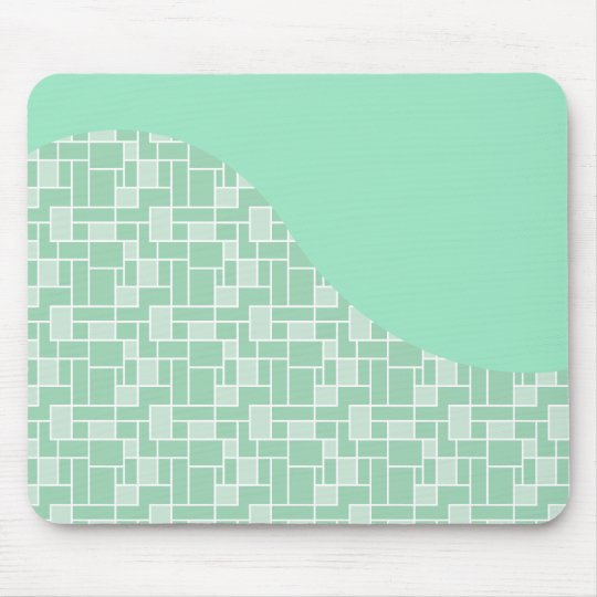 Pretty Soft Mint Green Wave Tile Pattern Gifts Mouse Mat