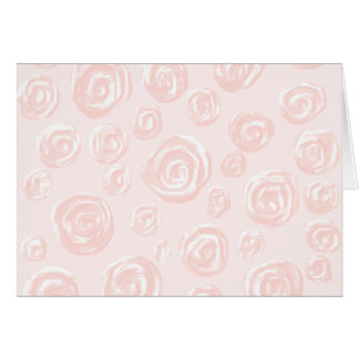 Pretty soft pink rose pattern. note card