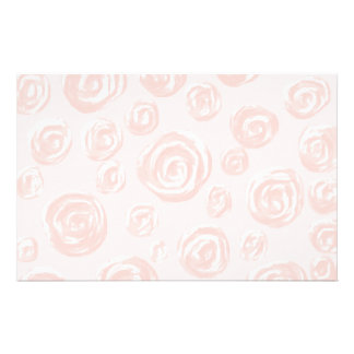 Pretty soft pink rose pattern. stationery