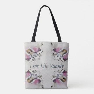 Pretty Soft Rose Colored Lifestyle Quote Tote Bag