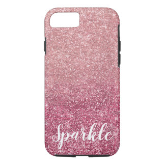 Pretty Sparkle Pink Faux Glitter iPhone 8/7 Case