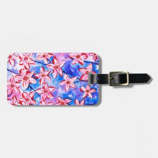 Pretty Spring Blossom Watercolour Luggage Tag