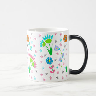 Pretty Spring Floral Pattern Morphing Mug