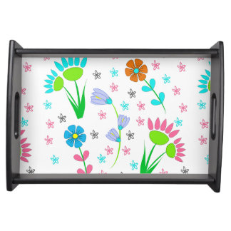 Pretty Spring Floral Pattern Serving Tray