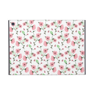 Pretty Spring Floral Pattern with Pink Flowers iPad Mini Case