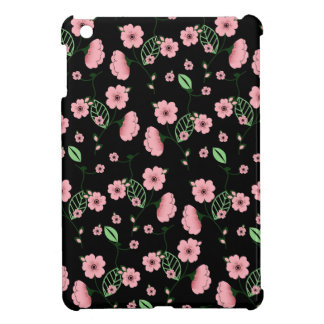Pretty Spring Floral Pattern with Pink Flowers iPad Mini Cover