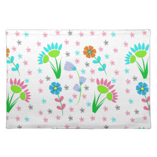 Pretty Spring Floral Patterned Placemat
