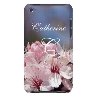 pretty spring pink cherry blossom in blue sky barely there iPod covers