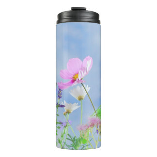 Pretty Spring Wild Flowers Thermal Tumbler