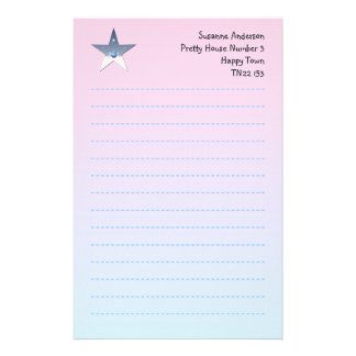 Pretty Star Writing Paper for Children