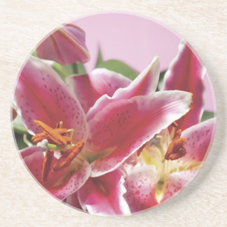 Pretty Stargazer Lilies Coasters
