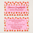 Pretty Strawberry Cream Pattern Personalised Business Card