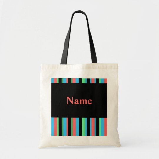 Pretty Striped Budget Tote Bag Template - Pink