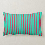 Pretty Striped Lime Green and Red> Throw pillow