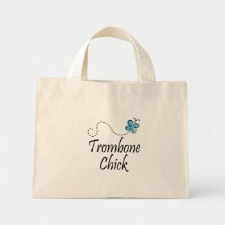 Pretty Striped Trombone Tote Bag