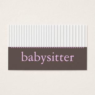 Babysitting business cards goalblockety babysitting business cards reheart Images