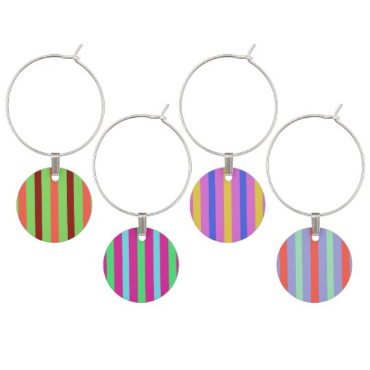 Pretty stripes wine charms
