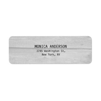 Pretty Stylish Gray Wood Plain Modern Return Address Label