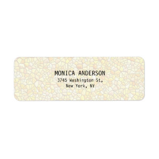 Pretty Stylish Stone Wall Pattern Plain Modern Return Address Label
