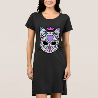 Pretty sugar skull cat dress
