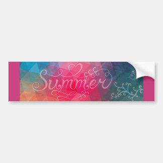 Pretty Summer Bumper Sticker