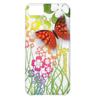 pretty summer butterfly fields rainbow color case iPhone 5C case