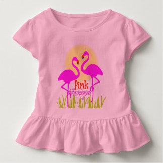 Pretty Summery Pink Flamingo Sunrise Toddler T-Shirt