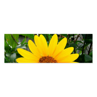 Pretty Sunflower Bookmark Pack Of Skinny Business Cards