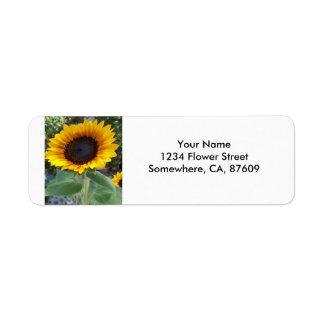Pretty Sunflower Return Address Label
