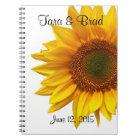 Pretty Sunflower Wedding Guest Book