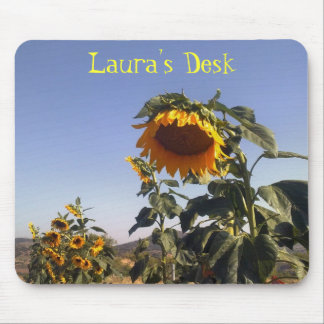 Pretty Sunflowers Customizable Charity Mouse Pads