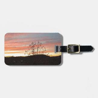 Pretty sunset luggage tag