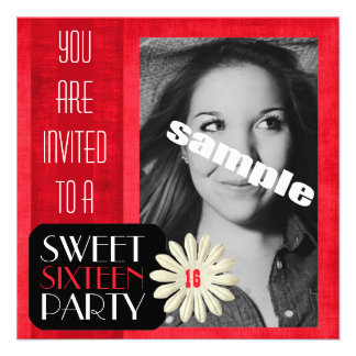 Pretty Sweet SIXTEENTH Girl s Birthday Party Announcement