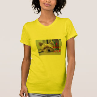 PRETTY T-SHIRT I LOVE YOU WITH YORKSHIRE
