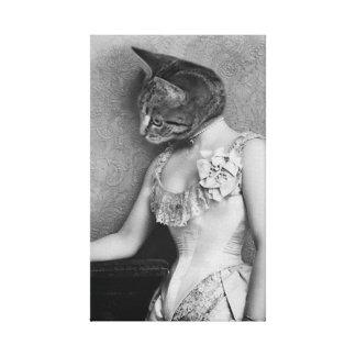 Pretty Tabby Cat Canvas Print