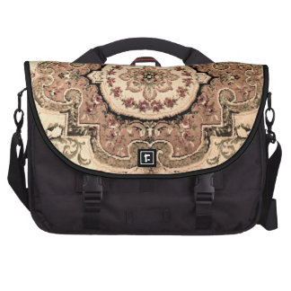 Pretty Tapestry Earth tones beige rose commuter Bag For Laptop
