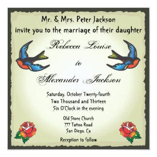Pretty Tattoo Wedding Invitation
